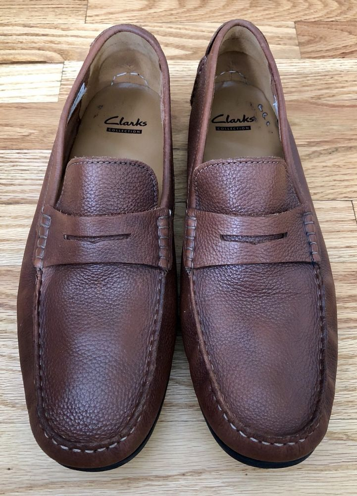 9f73fd1d Clarks Mens Shoes Size 13 M Driving Loafers Hamilton Way Brown ...