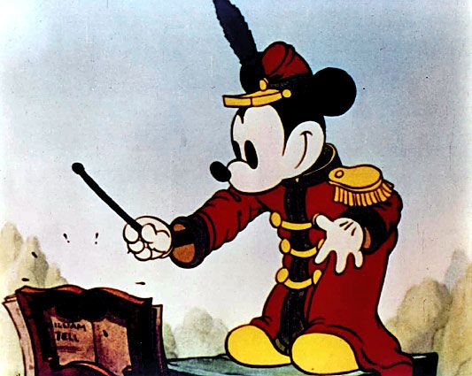Mickey Mouse in his first color cartoon, 1935's