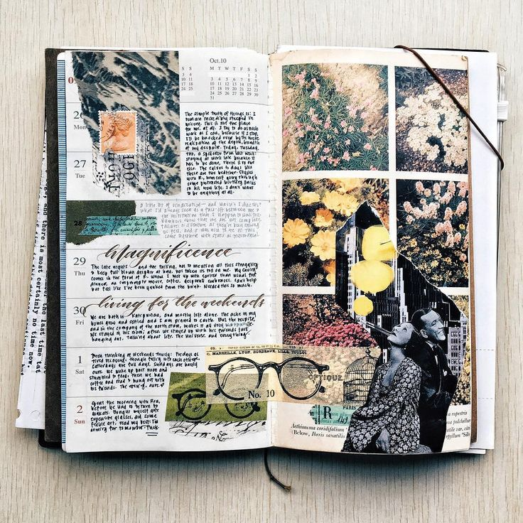 Finally made something! Here is last week's spread, and know that all that seeping color bloomed from the weekend.