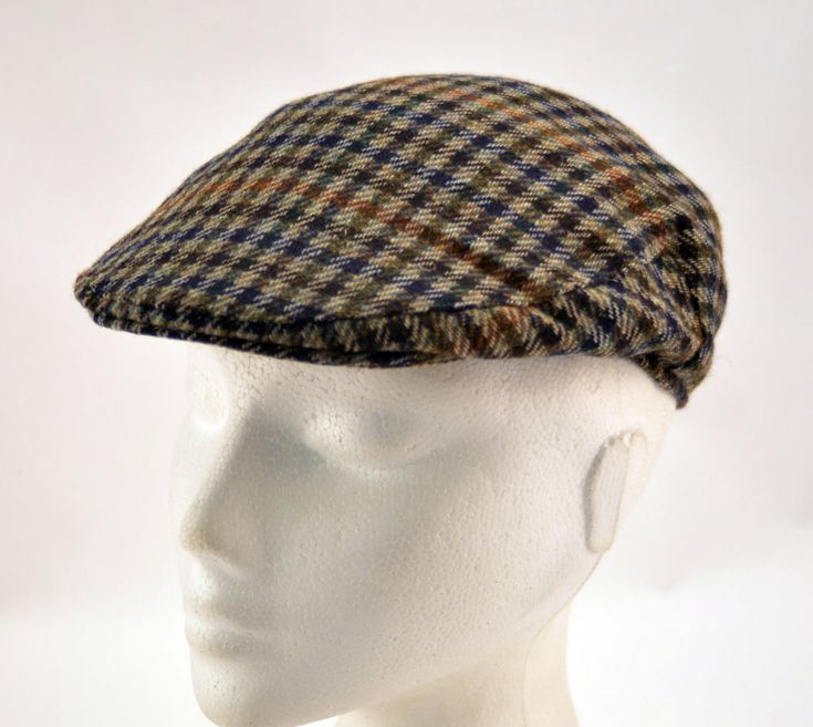 Mens Boys Ladies FGM Failsworth Flat Cap Checked Lined Clearance UK55cm