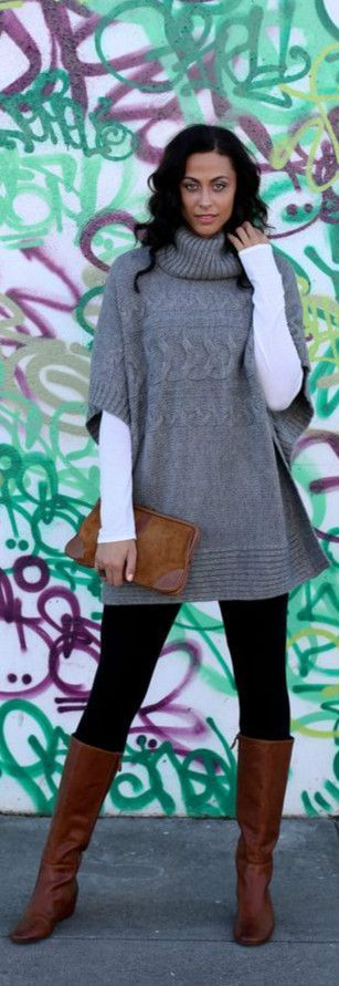 Fabulous collection of ponchos design ideas for stylish modern girls  (20)