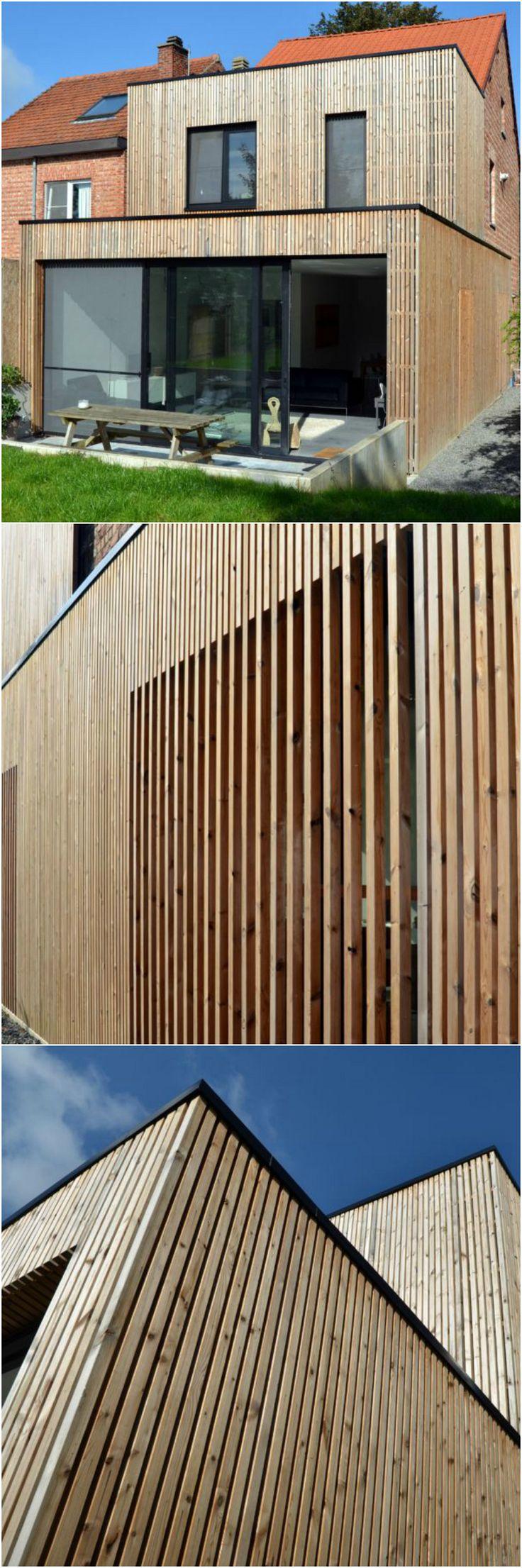 Renovatie • modern • houten gevelbekleding • terras • beton • Architect: Steven Peeters