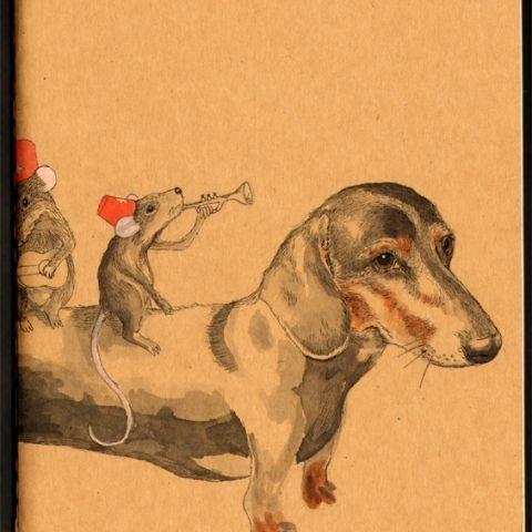 lol: Dachshund Art, Weiner Dogs So, Dachshund Fans, Moleskine Artists, W Mice Sketch, Dachshund W Mice, Dachshund Luv, Sausages Dogs, Artists Marketplac