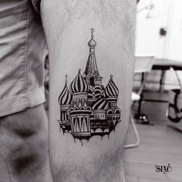 Blackwrk Kremlin Tattoo by Sixo Santos Tattoo