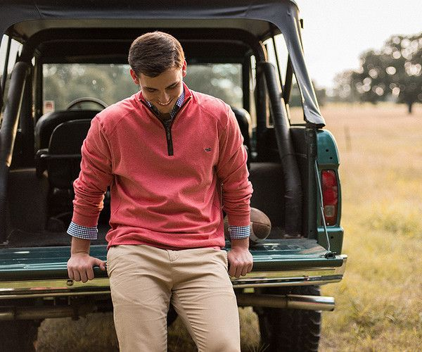 Southern Marsh Collection — DownpourDry Cotton Pullover - 1/4 Zip
