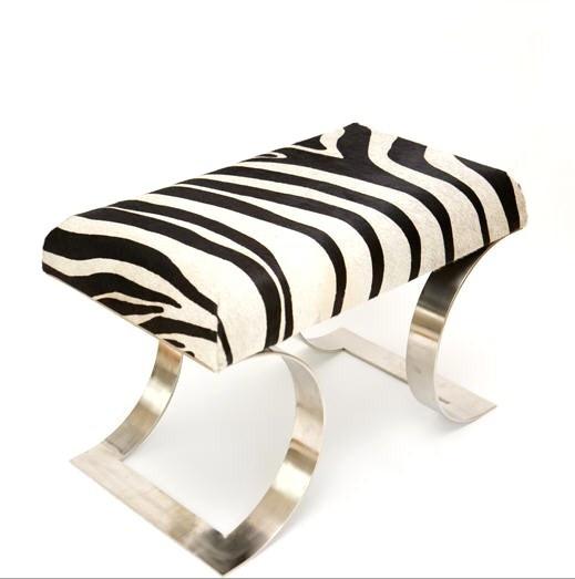 Stools, Luxury Designer Steel Zebra Dressing Table Stool, So Glamorous, One  Ofu2026
