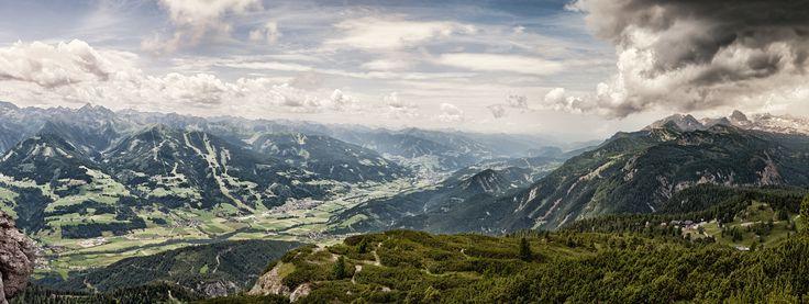 Blick vom Stoderzinken in Richtung Schladming in der Steiermark