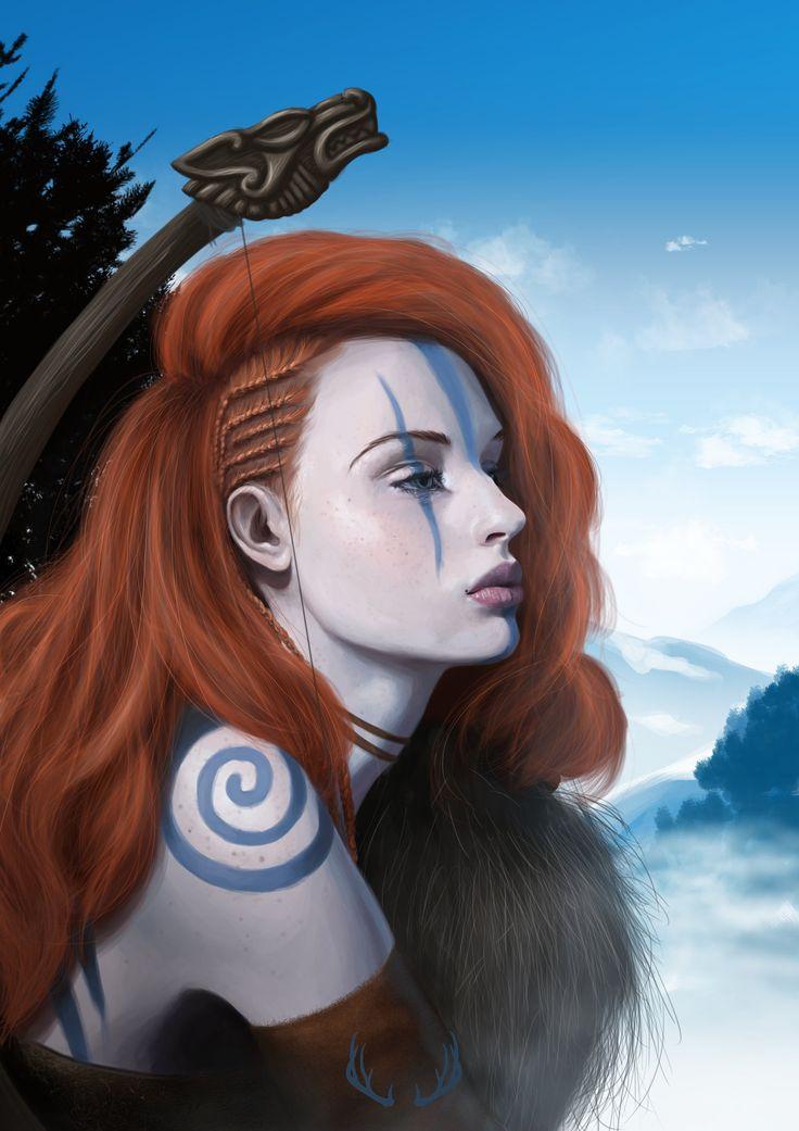 ArtStation - Celtic warrior, Marta G. Villena