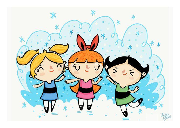90s Powerpuff Girls Art Print | Cartoon Network by lydiajeanart on Etsy