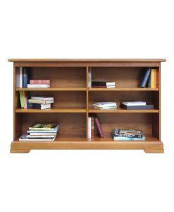 Niedriges Bücherregal mit 4 beweglichen Einlegeböden, Möbel schon montiert. MADE IN ITALY www.frankmoebel.com