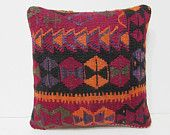 kilim pillow decoration bohemian cushion antique fabric crochet pillow case kelim rug rustic bedding pillow cover chevron pillow sham 26605