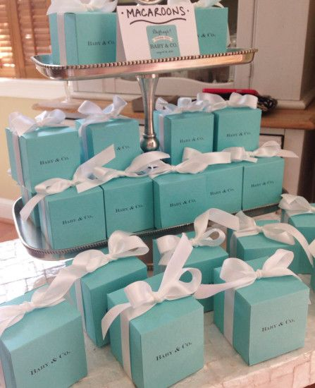 Tiffany Themed Baby Shower - Baby Shower Ideas - Themes                                                                                                                                                                                 More