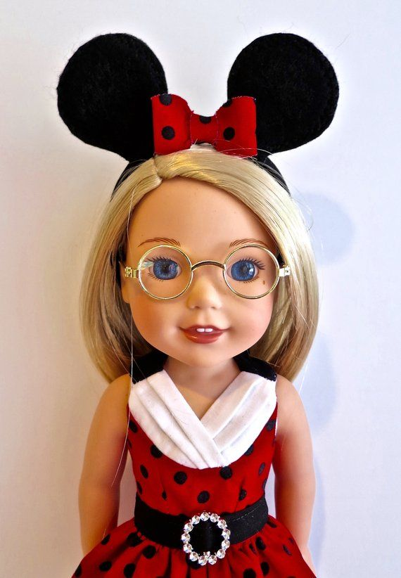 """Polka Dot Sunglasses 14/"""" Doll Clothes Accessory For American Girl Wellie Wishers"""