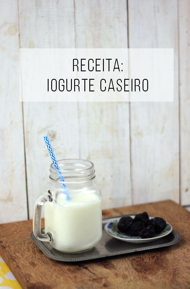Receita fácil: iogurte natural caseiro em garrafa térmica ou no isopor! E tudo o…