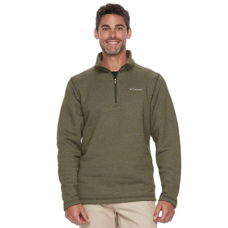 Men's Columbia Ortega Oaks Quarter-Zip Fleece Jacket, Size: Medium, Green Oth