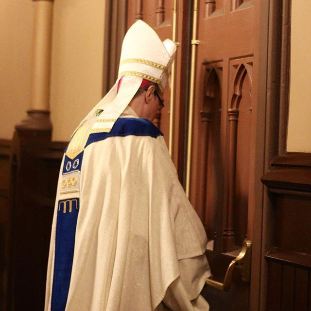 """""""As witnesses to Divine Mercy, one by one we go out into the world and tell the Good News. That's the Gospel; that's the Divine Mercy. They are one and the same, and you and I, now, are the Doors. We become the Doors of Mercy."""" Bishop Scharfenberger"""