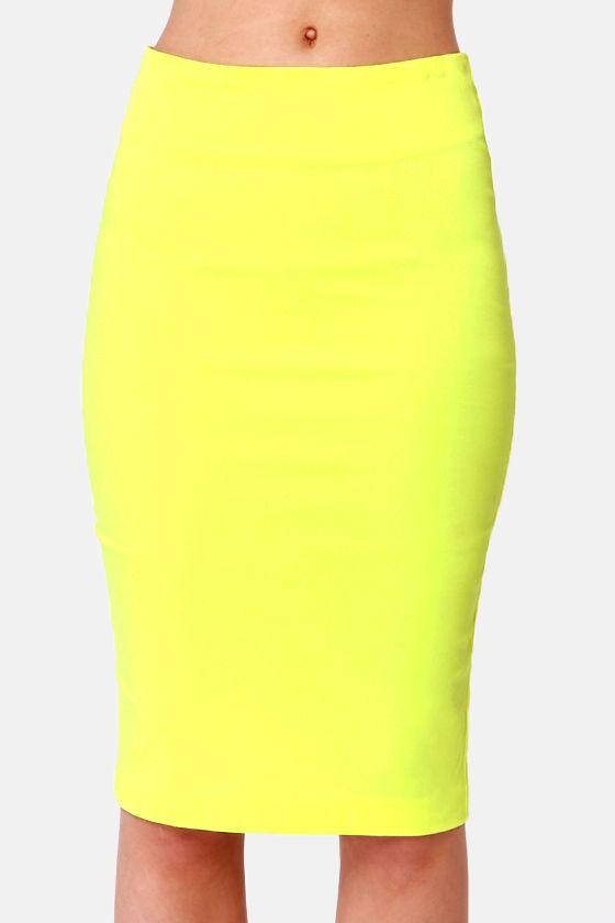 best 25 yellow pencil skirt ideas on yellow