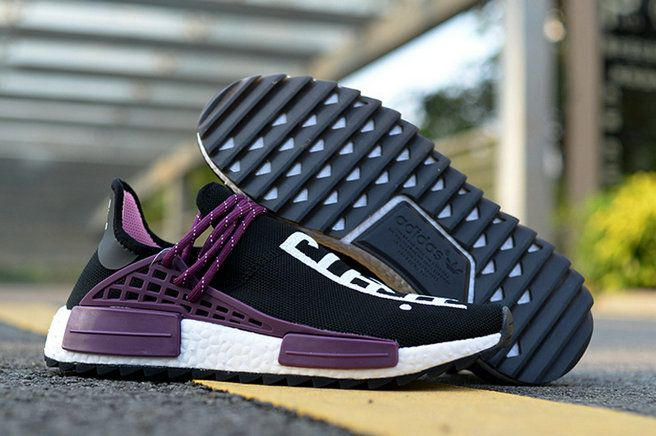 Pharrell X Adidas NMD Hu Trail Equality Black Purple White