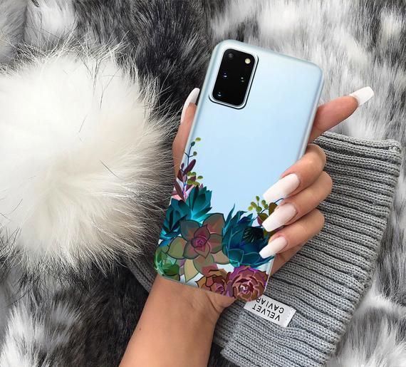 Succulents Case Flowers Case Floral Samsung Case Samsung Etsy In 2021 Samsung Cases Protective Cell Phone Cases Samsung