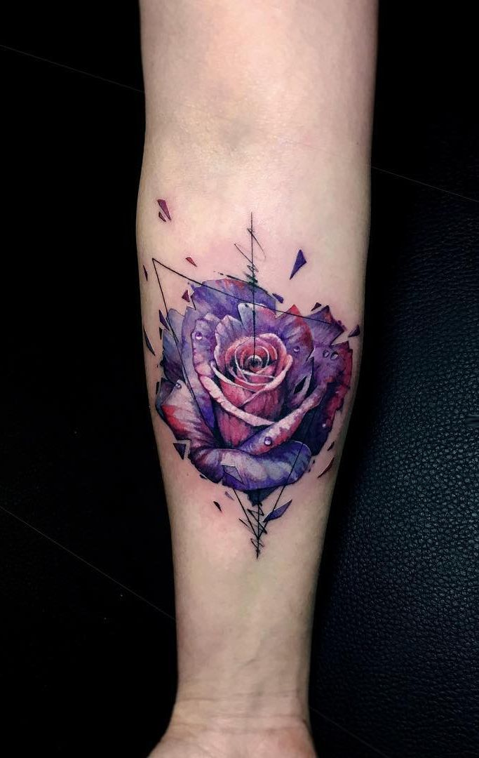 Abstract Rose Tattoo C Tattoo Artist Vlad Tokmenin Rose Tattoo Design Rose Tattoos Rose Tattoo