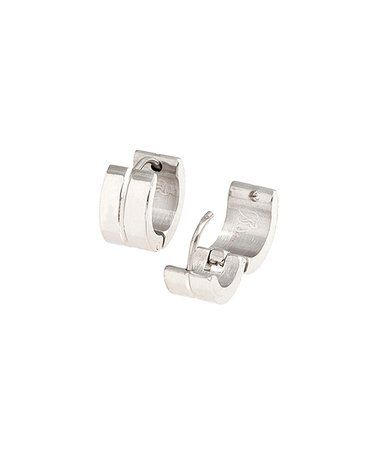 Look what I found on #zulily! Stainless Steel Line Huggie Earrings #zulilyfinds