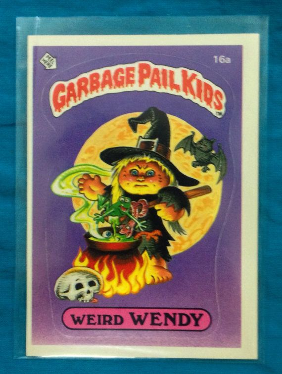 Vintage 80s Garbage Pail Kids Series 1 Weird Wendy 16a Sticker Trading Card Ex On Etsy 10 00 Garbage Pail Kids Garbage Pail Kids Cards Pail