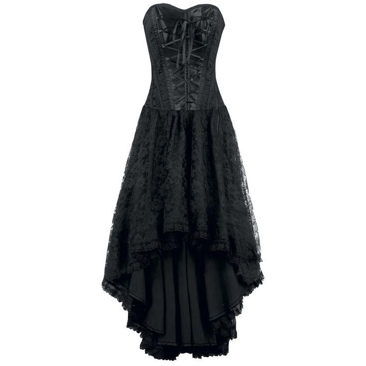 - floral lace  - 11-piece plastic boning  - lacing  - zipper on the side  - lining: 100% cotton  - Length front: 80 cm, length back: 127 cm