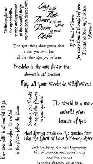 Rubbernecker Stamps - Garden Phrase Set