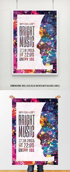 Bright Music Flyer Poster Template More