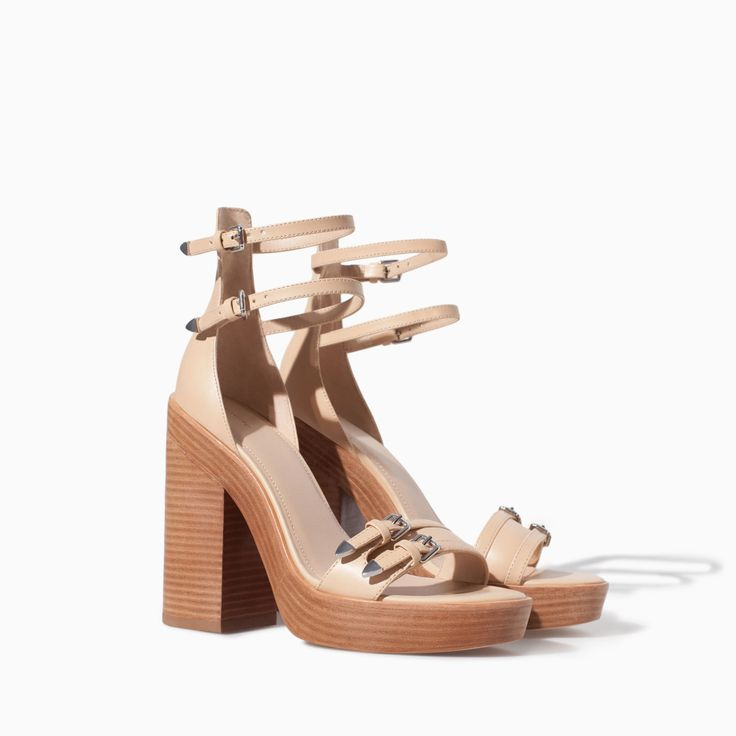 HIGH HEEL SANDAL WITH BUCKLES - Shoes - TRF - SALE | ZARA Canada Ref. 3630/301 99.90 CAD UPPER 100% POLYURETHANE LINING 50% POLYESTER 50% POLYURETHANE SOLE 100% VULCANIZED RUBBER