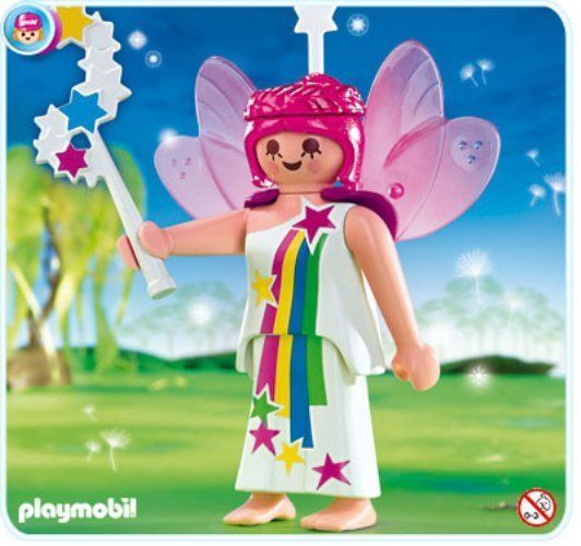 Playmobil SPECIAL 4676 FAIRY with PINK HAIR & WINGS !! - NEW  #PLAYMOBIL
