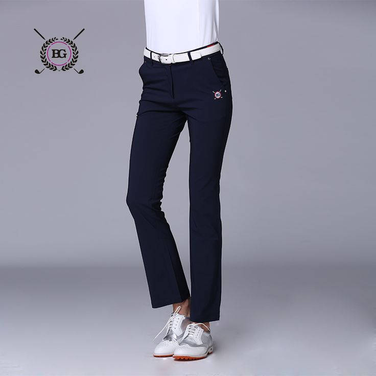 Spring women golf long pants nylon fabric girl Golf clothes sports trousers training slim pants all-match elastic top quality