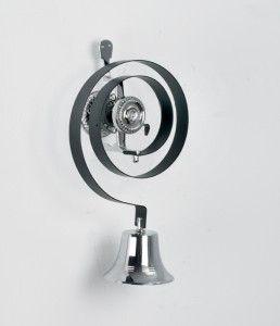 Bright chrome Butler door bell kit