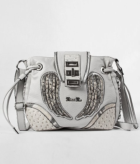 White miss me purse