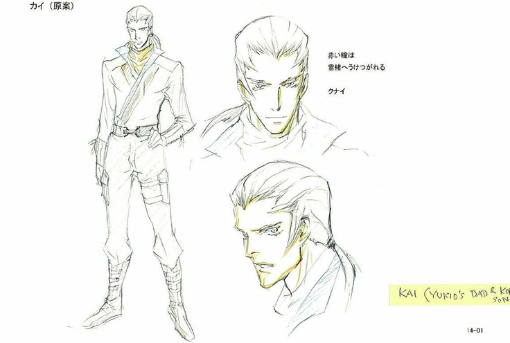 check out this concept art of kai for wolverine anime