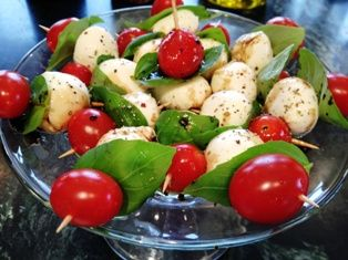 This Caprese Salad is transformed into portable bite sized deliciousness - no plates required!