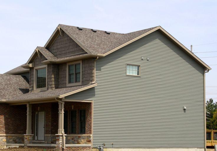 Best Quiet Willow Green Siding Garage Door Design Shingle 400 x 300