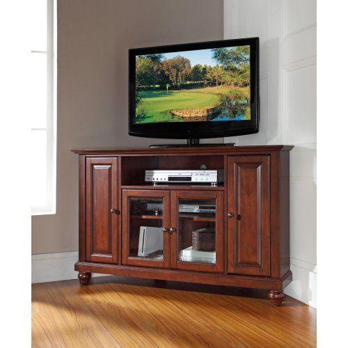 Crosley Cambridge 48 in. Corner TV Stand - Vintage Mahogany - TV Stands at Hayneedle