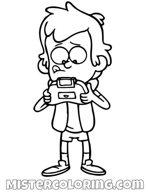 Dipper Pines Playing Video Games Gravity Falls Coloring Pages Fall Coloring Pages Coloring Pages Gravity Falls