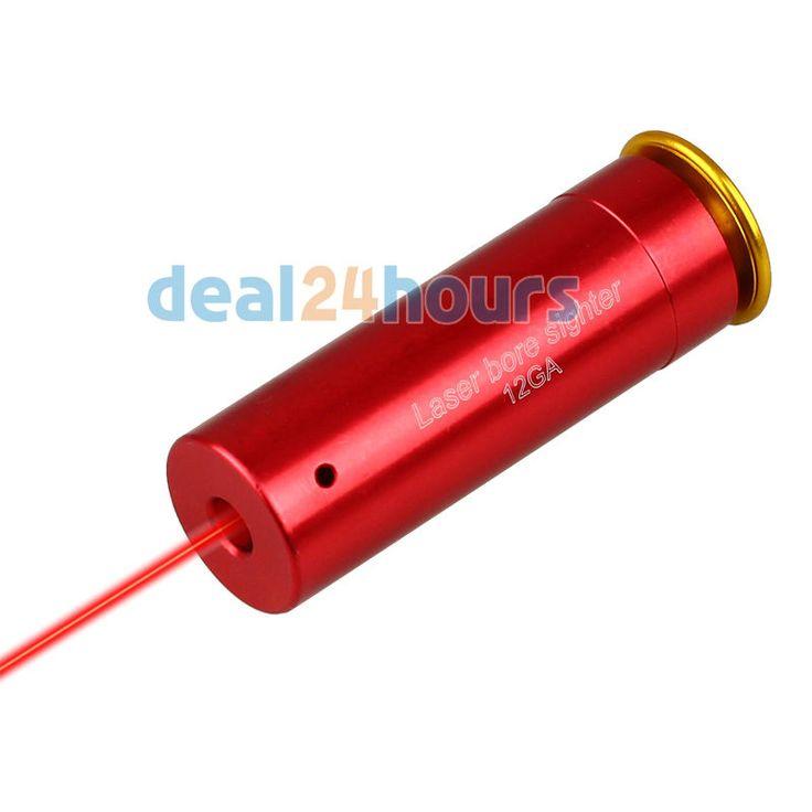 12 GAUGE 12 GA Boresighter Cartridge Laser Bore Sighter Sighting Penglihatan Boresight Red Copper 12GA Shotgun Merah GRATIS Pengiriman