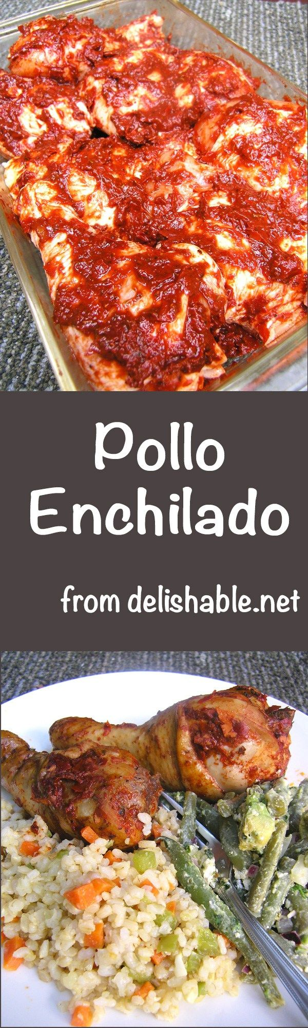 Pollo Enchilado recipe - chicken baked in an authentic Mexican chile sauce and trust me, it's worth a little extra trouble to make this delicious dish! | delishable.net