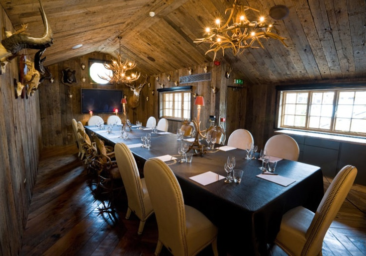 The beautiful hunting lodge at Crazy Bear http://crazybeargroup.co.uk