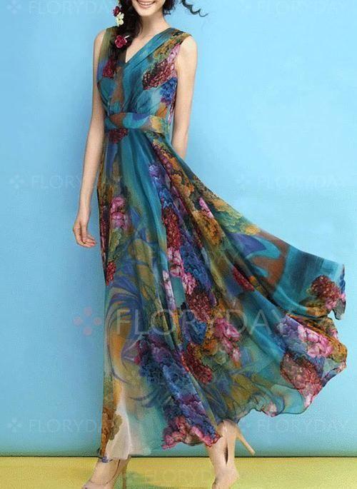 f21b87575b1 Dress -  63.99 - Floral Lace Drop waist Maxi X-line Dress (1955264970)