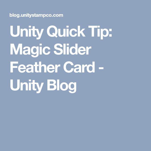Unity Quick Tip: Magic Slider Feather Card - Unity Blog