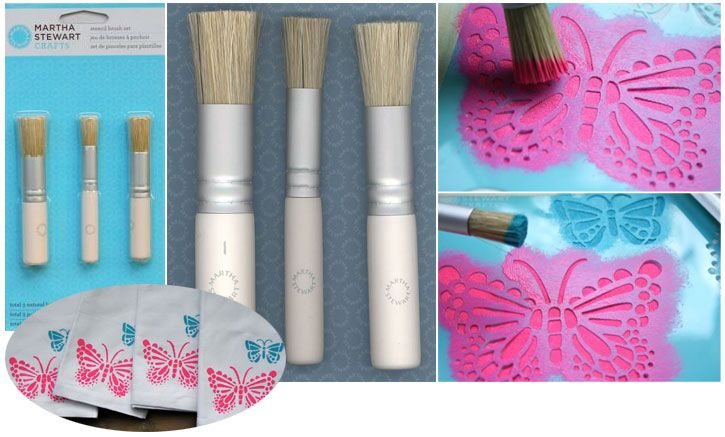Martha Stewart Stencil brush set (3pcs)