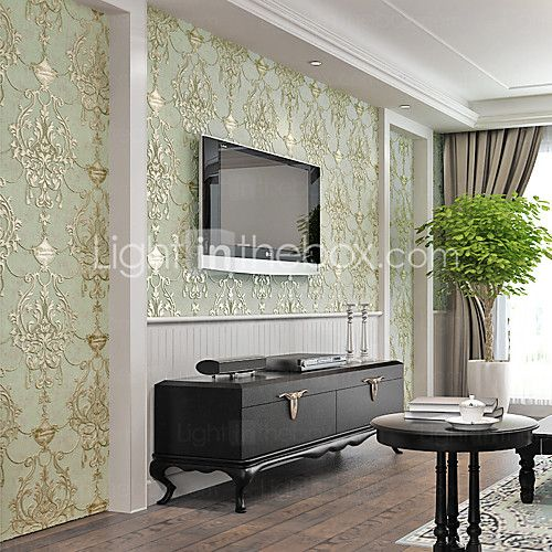 Bloemen / Art Deco / 3D Wallpaper voor Home Modern Behangen , Andere Materiaal lijm nodig behang , kamer Wallcovering 2016 - €38.21