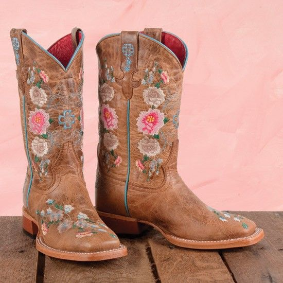 Macie Bean Kids' Floral Boots ~ just ordered these for my two year old grand daughter Aly. That Babygirl would sleep in her cowgirl boots if she could :))