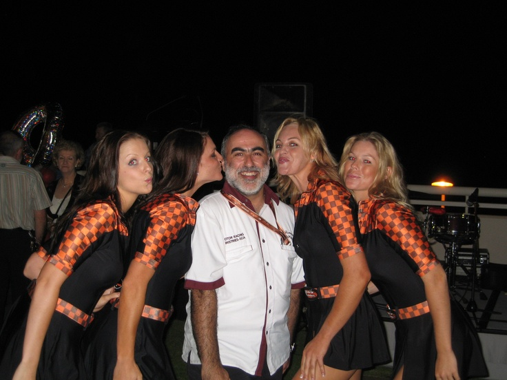 A birthday kiss from the grid girls :-)
