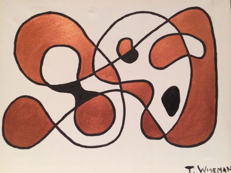 """""""Alone Together"""" Copper and Black Abstract Acrylic"""