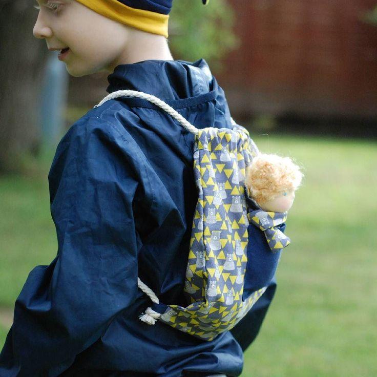 Who is in my backpack? :) #waldorf #waldorfdoll #waldorfmom #doll #dollsewing #instadoll #etsyseller #pamutti #pocketdoll #naronka #backpack #kindergarthen #children #dollforboys #elf #waldorfelf